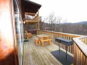 Deck View at Baskins Creek Cabin Rentals
