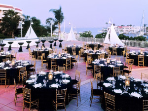 Wedding reception at Loews Coronado Bay Resort.