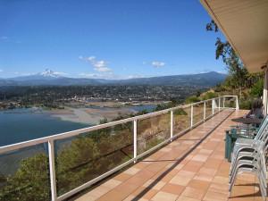 Deck view at Gorge Rentals.