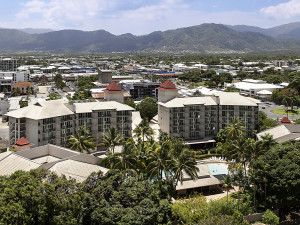 Exterior view of Oasis Resort Cairns.