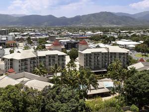 Exterior view of Oasis Resort Cairns.