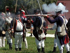 Historic reenactment near King's Creek Plantation.