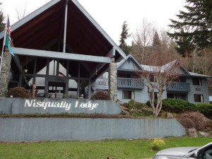 Exterior view of Nisqually Lodge.