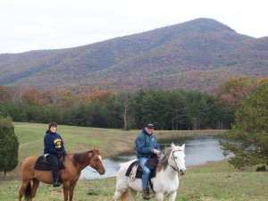 Horseback riding at Allstar Lodging.