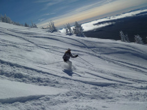 Skiing near Pronghorn Resort.