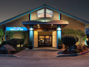 Exterior view of Best Western Seacliff Inn.