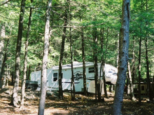 RV site at Highland Campground