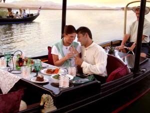 Romantic gondola at The Westin Lake Las Vegas Resort & Spa.