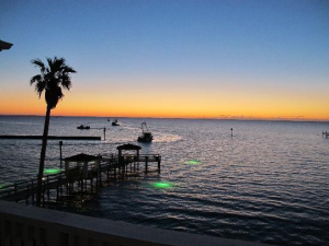 Beautiful Aransas Bay at The Lighthouse Inn at Aransas Bay.