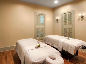 Spa massage tables at Boar's Head Resort.