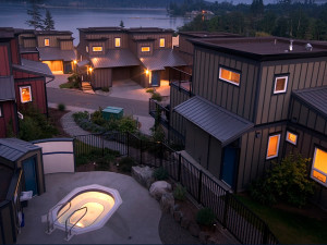 Exterior view of Sooke Harbour Resort & Marina.