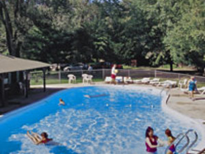 Out door swimming pool at Birchcliff Resort.