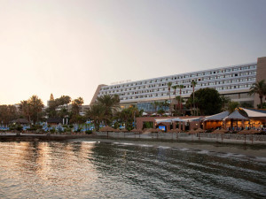 Exterior view of Amathus Beach Hotel.