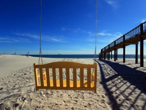 Beach view at Fort Morgan Realty.