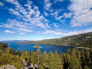 Beautiful lake at Heavenly Valley Lodge.