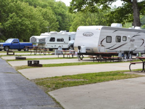 RV campground at Basswood Country Resort.