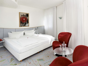 Guest room at Sorat Art'otel Berlin.