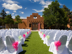 Outdoor wedding at The Lodge at Santa Fe.