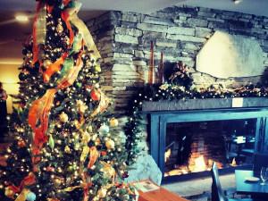 Holiday decor at The Osprey at Beaver Creek, A Rock Resort.