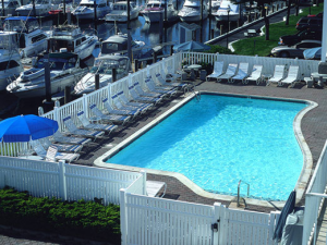 Aerial Pool View at Saybrook Point Inn