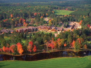 Aerial view of Garland Lodge & Resort.