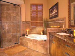 Lodge bathroom at Pronghorn Resort.