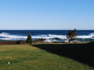 Ocean waves near Beachmere Inn.