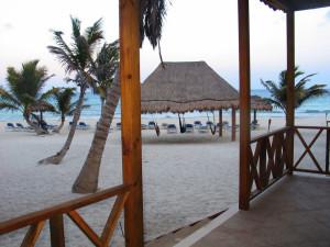 The beach at Petit Lafitte Hotel.