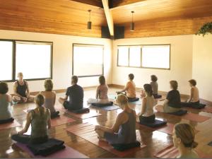 Yoga class at Canyon Ranch Tucson.
