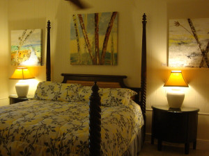 Guest bedroom at L'Habitation Guest House.