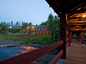 Boardwalk at Lutsen Resort on Lake Superior.
