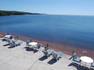 Lake view at The Shoreline Inn.