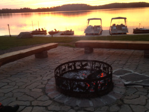 Fire pit at Jay's Resort