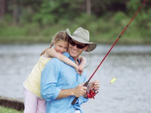 Fishing at La Torretta Lake Resort.