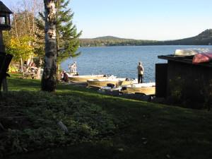 Boats by the Lake at Powder Horn Lodge