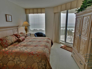 Guest bedroom at Silver Shells Beach Resort & Spa.