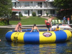 Water activities at Severn Lodge.