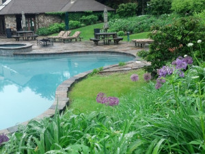 Outdoor pool at Rock Hall Luxe Lodging.
