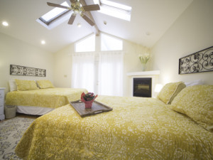 Vacation rental bedroom at Beach Combers Vacation Rentals.