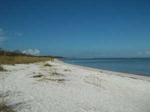 Beach near Gulfview Manor Resort.