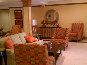 Lobby at Homewood Suites Houston-Woodlands