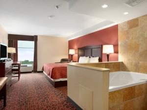 Guest room at Ramada Niagara Falls.