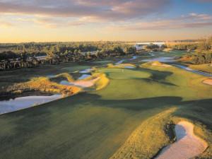 Golf course near Crown Reef Resort.