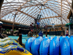 Indoor water park at Massanutten Resort.