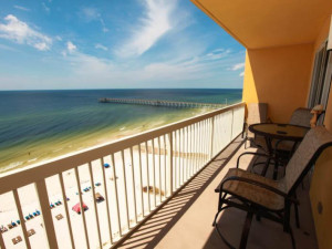 Guest balcony at Calypso Resort & Spa.