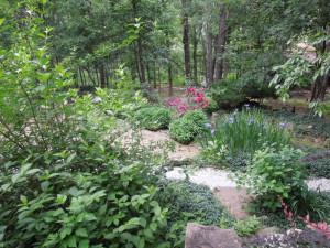 Garden at Azalea Falls Lodge.