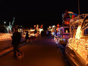 Holiday lights at Callville Bay.