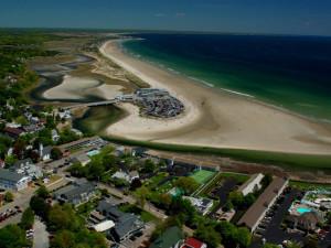 Arial view of the beach at Mariner Resort.