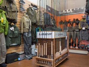 Fishing store at Clonanav Fly Fishing.