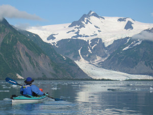 Kayaking at Kenai Fjords Glacier Lodge.